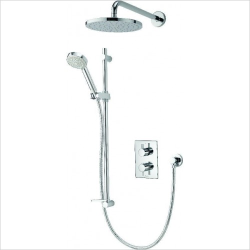 Aqualisa Showers - Dream DCV Divert Mix Shower With Adj & Wall Fix Drench Heads