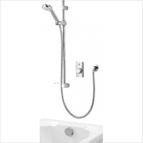 Aqualisa Showers - Visage Digital Conc W Adj/H & Bath O/Flow Filler HP/Combi