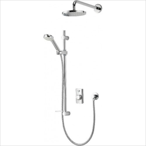 Aqualisa Showers - Visage Digital Conc W Adj & Fix Wall Heads Grav/Pump