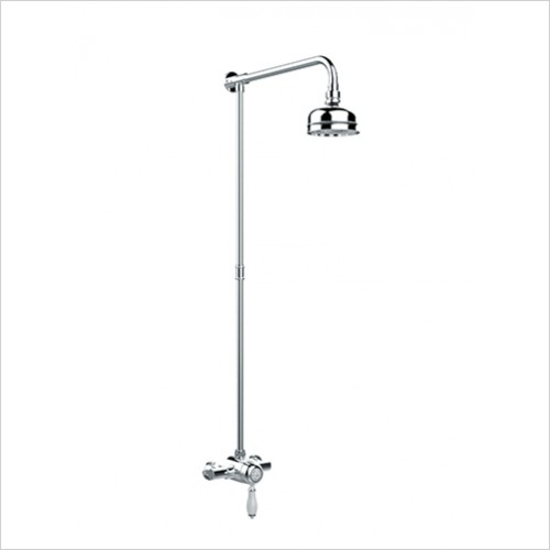 Heritage Showers - Ryde Single Control Exposed Mini Valve With Rigid Riser