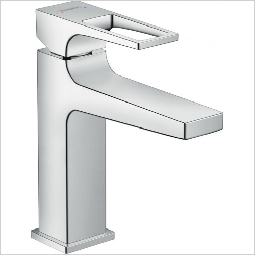 Hansgrohe Taps - Metropol Single Lever Basin Mixer 110 With Push-Open Waste