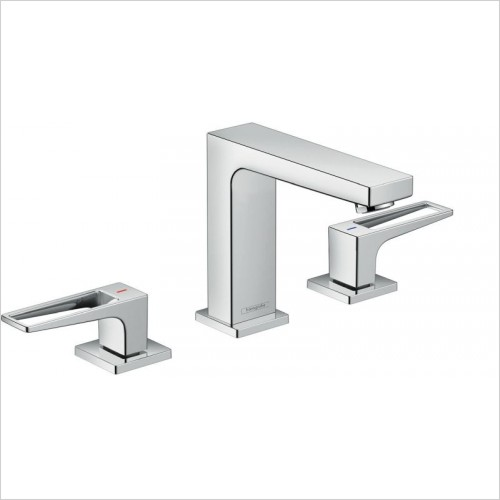 Hansgrohe Taps - Metropol 3-Hole Basin Mixer 110 With Push-Open Waste