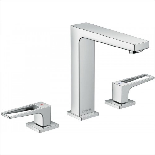 Hansgrohe Taps - Metropol 3-Hole Basin Mixer 160 With Push-Open Waste