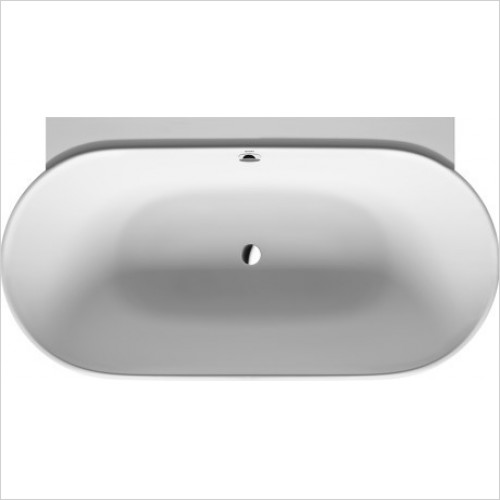 Duravit Baths - LUV 1800x950mm Back To Wall With Two Backrest Slopes
