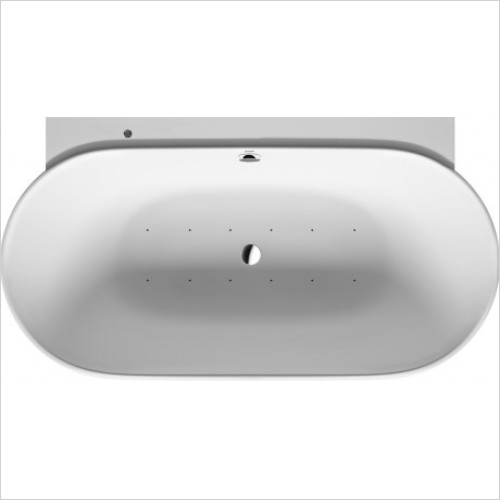 Duravit Baths - Whirltub LUV 1800x950mm Back To Wall Air System