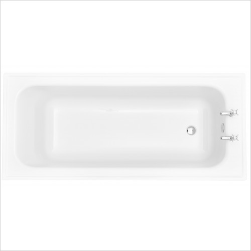 Heritage Bathtubs - Victoria Single Ended Super Deep 1800 x 800 Acrylic Fitted B