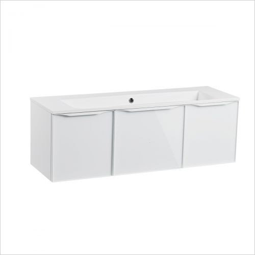 Roper Rhodes Furniture - Frame 1200mm Wall Mounted Triple Drawer Basin Unit