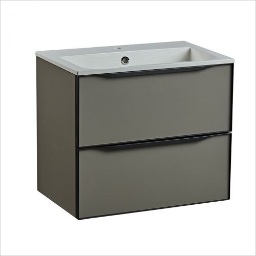 Frame 600mm Wall Mounted Double Drawer Basin Unit