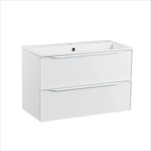 Roper Rhodes Furniture - Frame 800mm Wall Mounted Double Drawer Basin Unit