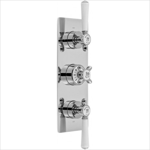VADO Showers - Axbridge 2 Outlet, 3 Handle Concealed Thermostatic Valve