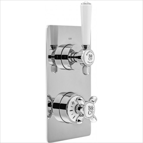 VADO Showers - Axbridge 1 Outlet, 2 Handle Concealed Thermostatic Valve