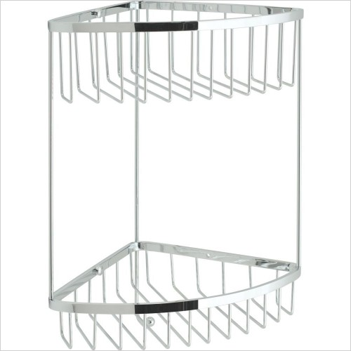 VADO Accessories - Basket Large Double Triangular Corner Wall Mounted