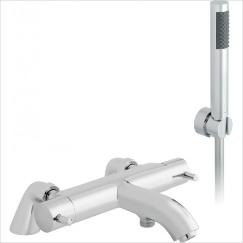 VADO Showers - Celsius 2 Hole Thermostatic Bath Shower Mixer Pillar Mounted