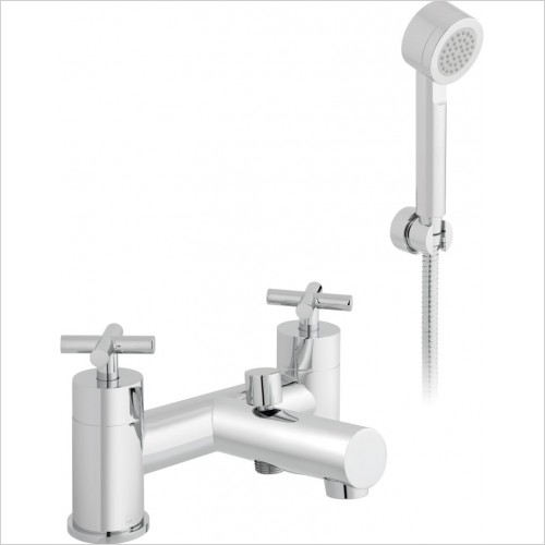 VADO Showers - Elements Water 2 Hole Bath Shower Mixer Deck Mounted