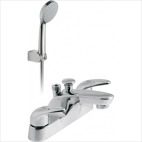 VADO Showers - Magma 2 Hole Bath Shower Mixer Deck Mounted