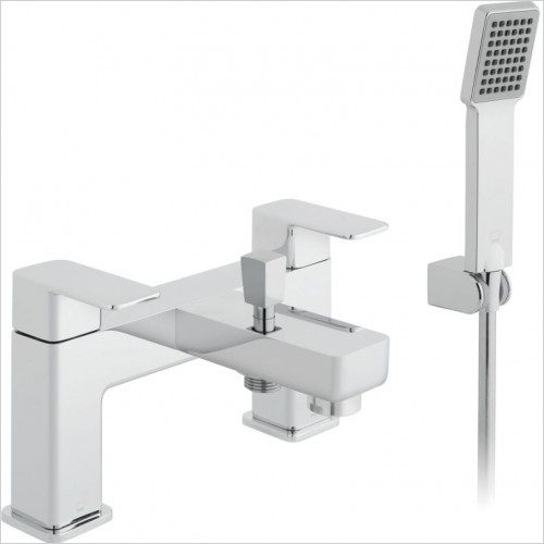 VADO Showers - Phase 2 Hole Bath Shower Mixer Single Lever Deck Mounted