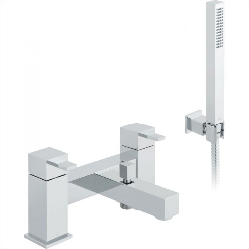 VADO Showers - Té 2 Hole Bath Shower Mixer Deck Mounted