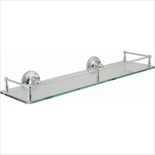 VADO Accessories - Tournament Clear Glass Galley Shelf 510mm (20'') Wall Mounte