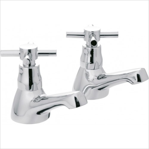 VADO Taps - Vecta Basin Pillar Taps Deck Mounted