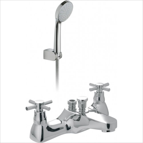 VADO Showers - Vecta 2 Hole Bath Shower Mixer Deck Mounted