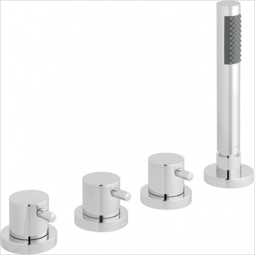 VADO Showers - Zoo 4 Hole Bath Shower Mixer Deck Mounted