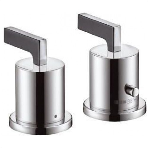 Axor Taps - Citterio 2-Hole Rim-Mounted Thermostatic Bath Mixer - Lever